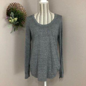 Chaser Medium grey cable knit open back top